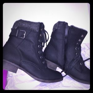 Black Rampage Combat Boots